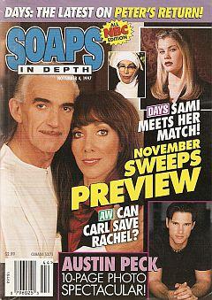 November 4, 1997 issue of NBC Soaps In Depth soap opera magazine