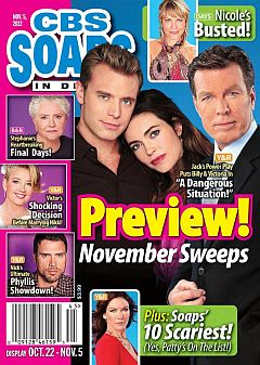 November 5, 2012 issue of CBS Soaps In Depth magazine
