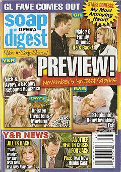 Soap Opera Digest November 5, 2012