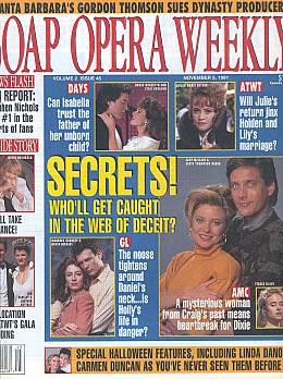 Soap Opera Weekly November 5, 1991
