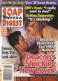 Soap Opera Digest Nov. 6, 2001