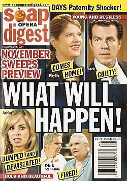 Soap Opera Digest Nov. 6, 2007