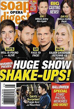 November 6, 2017 issue of Soap Opera Digest magazine