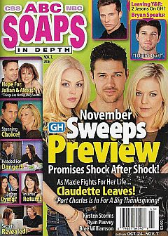 November 7, 2016 issue of ABC Soaps In Depth magazine