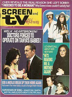Screen And TV Album Nov. 1974