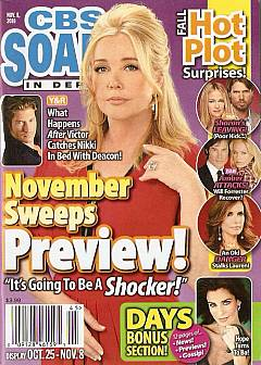 CBS Soaps In Depth dated November 8, 2010 featuring Melody Thomas Scott on the cover