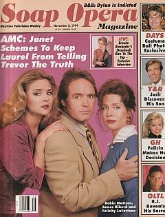 Soap Opera Magazine November 8, 1994
