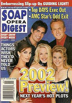 Soap Opera Digest Jan. 1, 2002