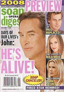 Soap Opera Digest January 1, 2008