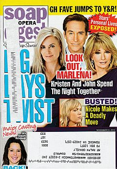 November 12, 2012 issue of Soap Opera Digest magazine