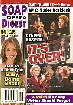 Soap Opera Digest Nov. 13, 2001