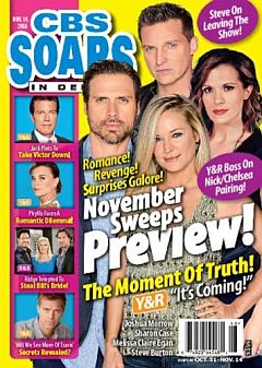 November 14, 2016 issue of CBS Soaps In Depth magazine