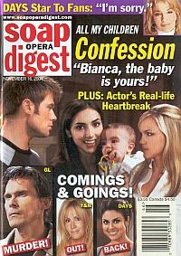 Soap Opera Digest Nov. 16, 2004