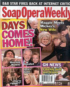 Soap Opera Weekly November 16, 2004