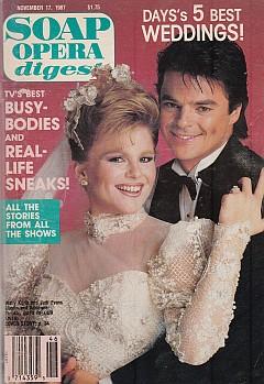 Soap Opera Digest November 17, 1987