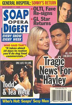 Soap Opera Digest - November 17, 1998