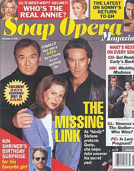 Soap Opera Magazine November 17, 1998