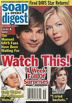 Soap Opera Digest Nov. 18, 2003