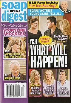 November 19, 2012 issue of Soap Opera Digest magazine