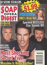 Soap Opera Digest Nov. 20, 2001