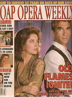 November 20, 1990 issue of Soap Opera Weekly magazine