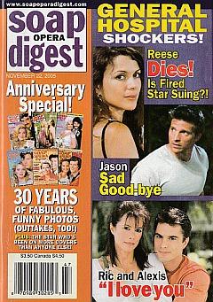 Soap Opera Digest Nov. 22, 2005