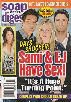 November 22, 2011 issue of Soap Opera Digest magazine