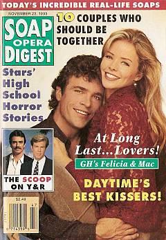 Soap Opera Digest November 23, 1993