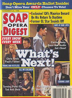 Soap Opera Digest - November 24, 1998