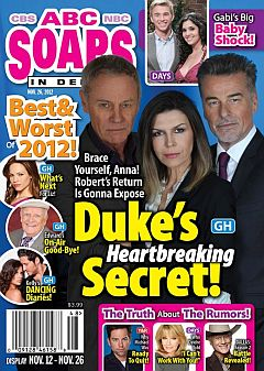 November 26, 2012 issue of ABC Soaps In Depth magazine