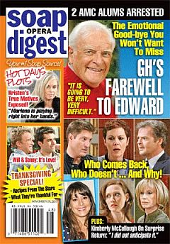 November 26, 2012 issue of Soap Opera Digest magazine