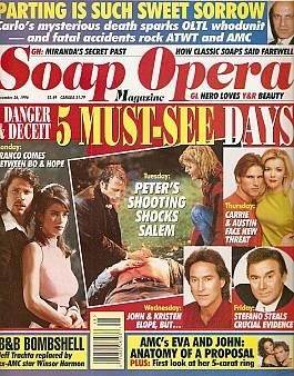 Soap Opera Magazine November 26, 1996