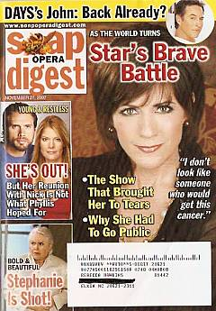 Soap Opera Digest Nov. 27, 2007