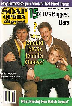 Soap Opera Digest November 28, 1989