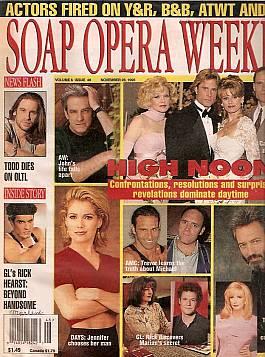 Soap Opera Weekly November 28, 1995