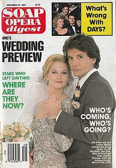 Soap Opera Digest November 29, 1988