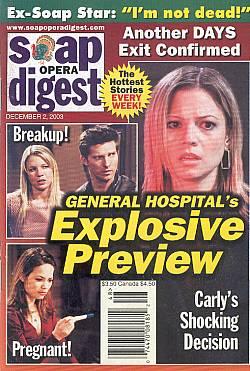 Soap Opera Digest Dec. 2, 2003