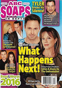 December 5, 2016 issue of ABC Soaps In Depth magazine