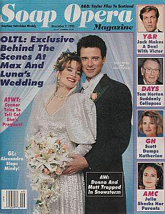 Soap Opera Magazine Dec. 7, 1993