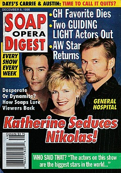Soap Opera Digest - December 8, 1998