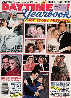 December 1990 issue of Daytime TV Yearbook soap opera magazine
