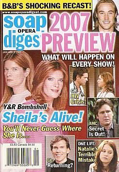 Soap Opera Digest Jan. 2, 2007