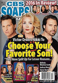 CBS Soaps In Depth Dec. 12, 2016