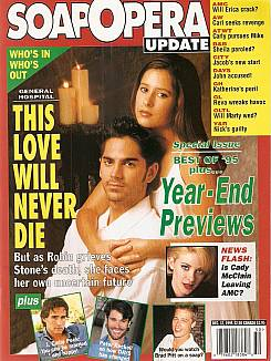 December 12, 1995 issue of Soap Opera Update magazine