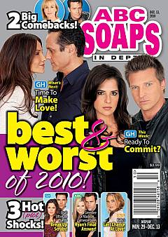 ABC Soaps In Depth dated December 13, 2010 featuring the stars of General Hospital on the cover