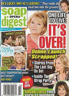 Soap Opera Digest December 13, 2011