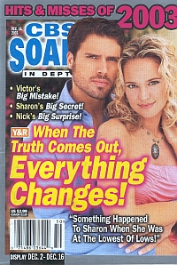 CBS Soaps In Depth December 16, 2003