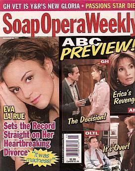 Soap Opera Weekly December 21, 2004
