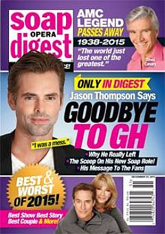 Soap Opera Digest Dec. 21, 2015