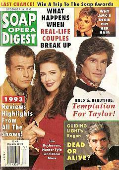 Soap Opera Digest December 21, 1993